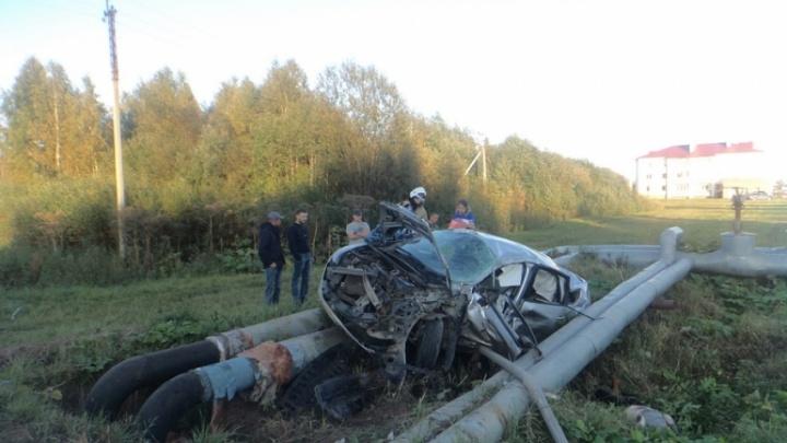 В страшной аварии в Котласском районе погибли двое человек