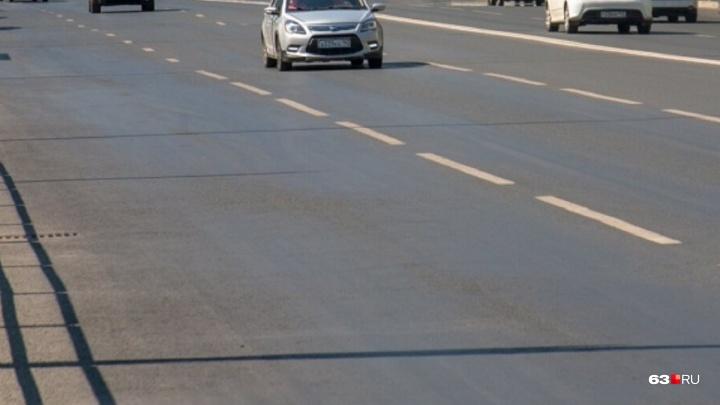 На Ново-Садовой устранили провал асфальта над метро