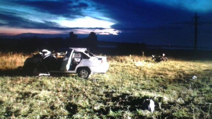 Смертельная авария на трассе в Башкирии: столкнулись иномарка и мотоцикл