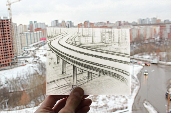 Художник Кирилл Карпиков&nbsp;«дорисовал» недостающую часть проекта Средней дамбы<br>