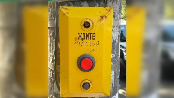 «Галерею» стрит-арта в Самаре пополнили позитивные светофоры-«советчики»