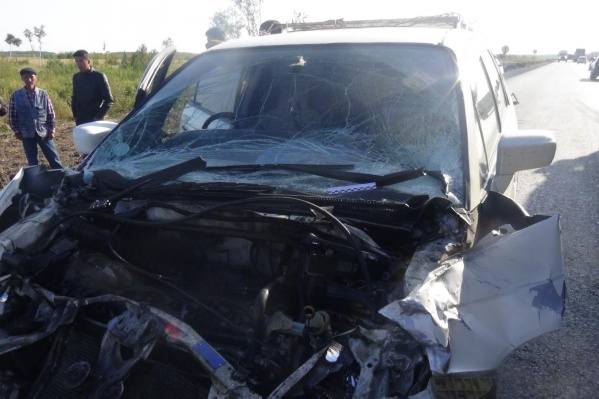 Водитель автомобиляHonda не выдержал дистанцию до едущей впереди машины