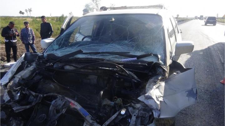 На трассе «Иртыш» в Зауральев ДТП пострадали иностранцы. На дороге шли ремонтные работы