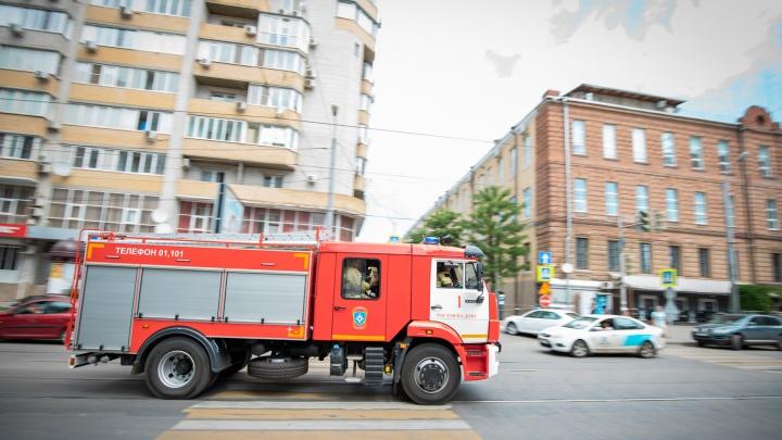 При пожаре в Ростове на улице Волкова пострадали четверо