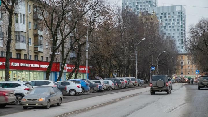 Монтаж трамвайных путей на улице Революции в Перми начнётся в марте 2019 года