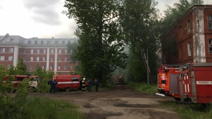 В Ярославле загорелись корпуса Большой мануфактуры