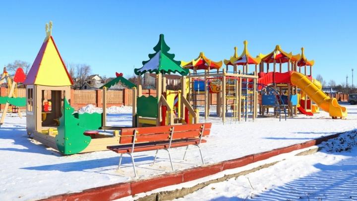 В Садах Придонья построили детскую площадку