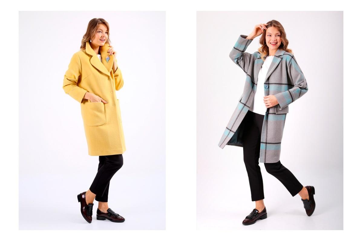 Пальто слева 8840 рублей вместо 13 600 рублей. Пальто справа 9360 рублей вместо 14 400 рублей