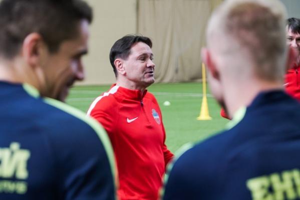 Дмитрий Аленичев на тренировке с клубом