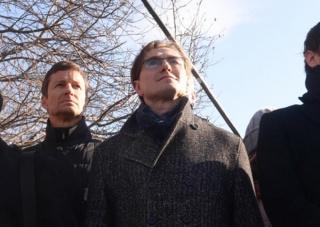 Сергей Безруков принял участие в молебне за храм