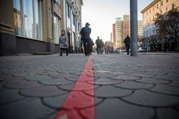 Появилась красная линия в том числе и на улице Ленина
