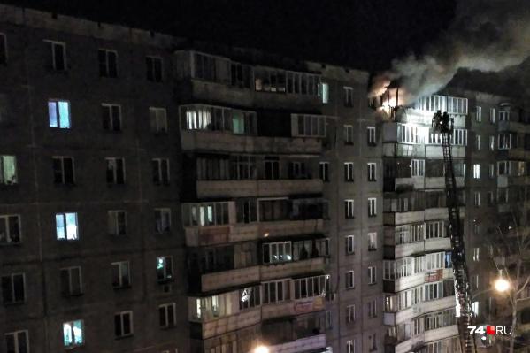 Пожар произошёл вечером в воскресенье на улице Захаренко, 11