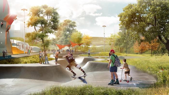 Одна из идей — разработать в парке зону для скейтбордистов