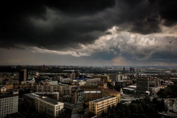 Согласно прогнозу, уже в четверг в Новосибирске начнутся грозовые дожди