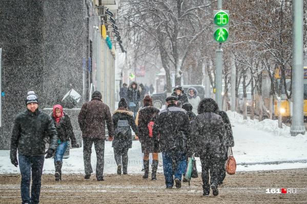 По прогнозам синоптиков, снег будет идти каждый день