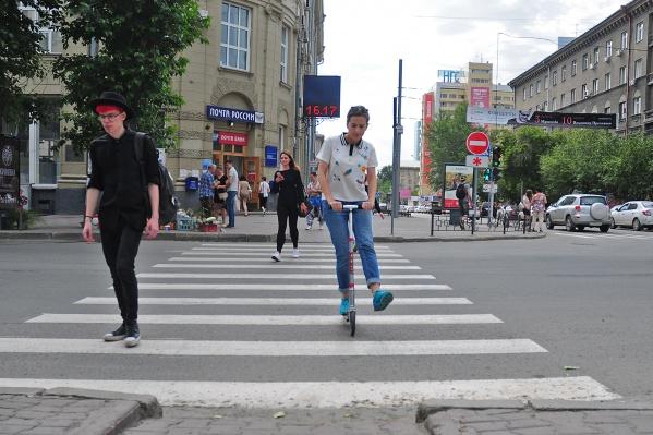 Люди, передвигающиеся на самокатах, стали представлять опасность для дорожного движения