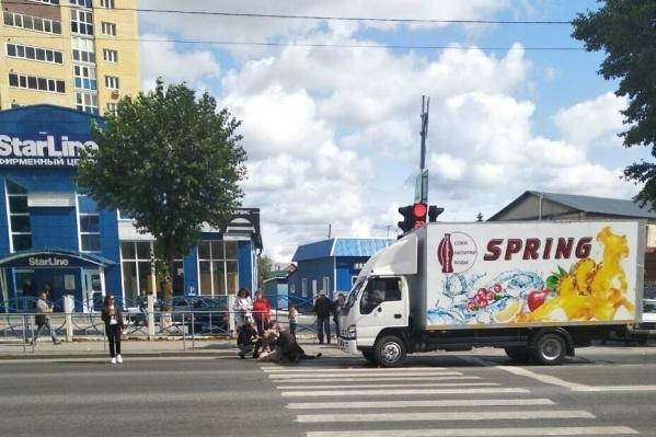 ДТП случилось на пешеходном переходе