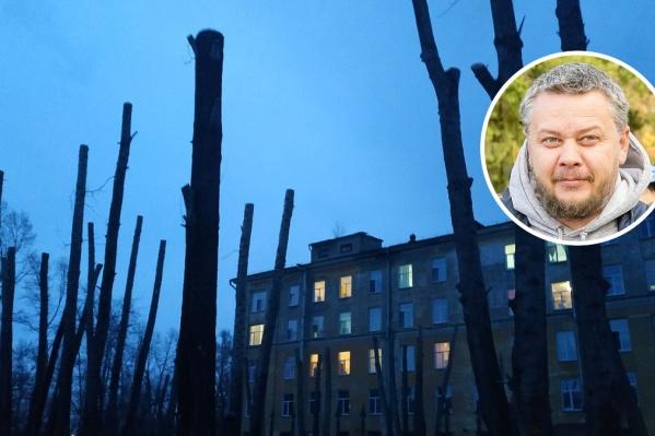 Андрей Вагин убежден, что урон наносит не только вырубка, но и санитарная обрезка деревьев в Кургане