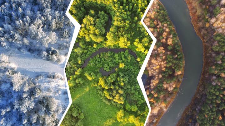 Зима, весна, лето, осень и снова зима:смотрим 12 завораживающих фото Тюмени с высоты
