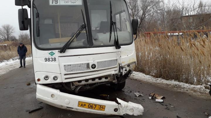 «Водителя вырезают спасатели»: на юге Волгограда столкнулся автобус с маршруткой — двое пострадавших