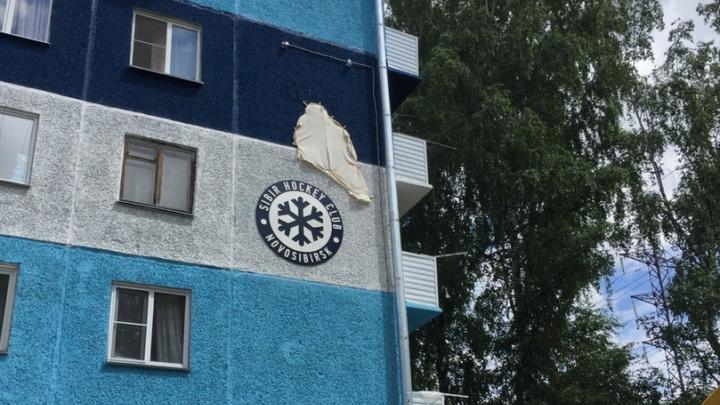 Новосибирец приделал к стене хрущёвки 2-метровую снежинку