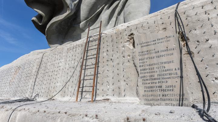 «Весь новодел снимем»: на стилобат монумента «Родина-мать зовет!» не вернут гранитные плиты