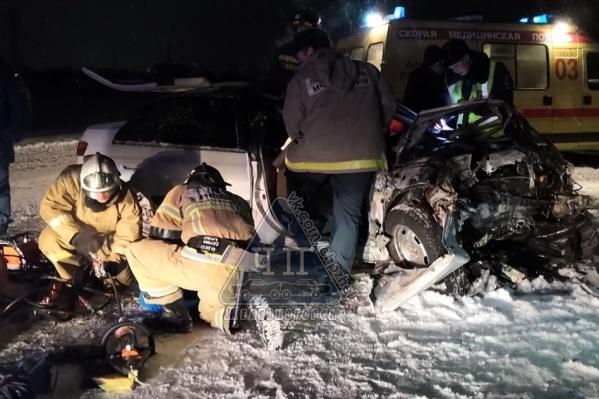 Авария произошла под Железногорском в районе поселка Тартат