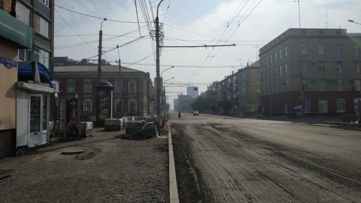 Участок улицы Ленина перекрывают для проезда автомобилей на две недели