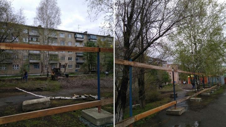 Жители первого микрорайона Заозерного боятся, что неизвестный застройщик вырубит деревья