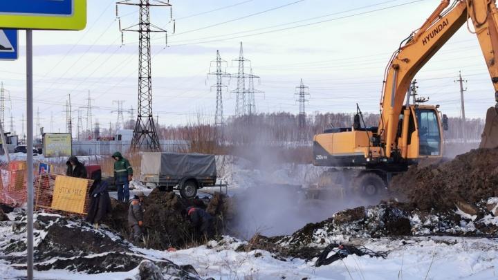 В Челябинске устранили аварию, оставившую без тепла и воды «Парковый». Но теперь там другая проблема