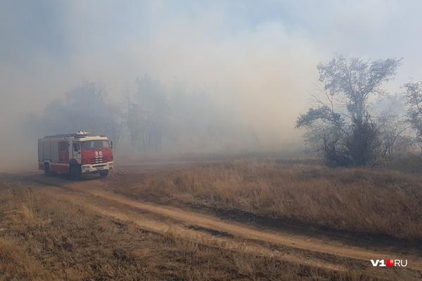 Серо-черные столбы дыма разлетелись на несколько километров от места пожара