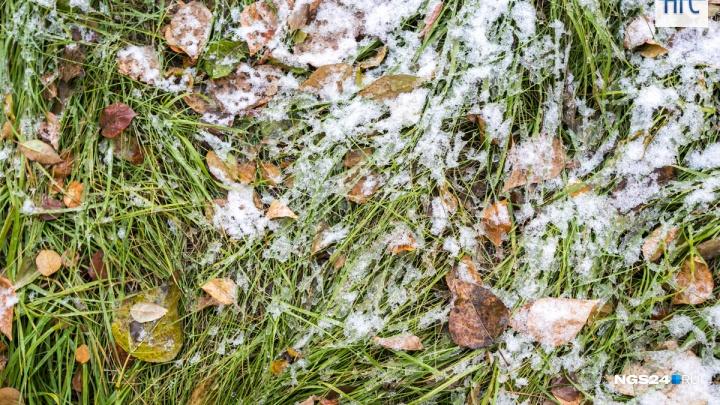 Первый снег выпал в Красноярске перед резким похолоданием