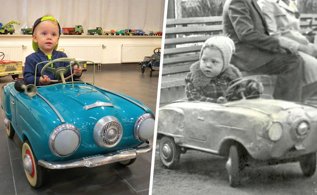 На фото сын и отец, снимки сделаны с разницей в 41 год