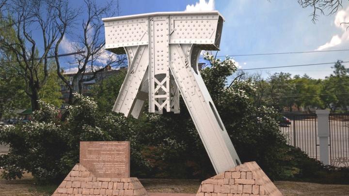Новый 4-метровый памятник появился рядом с главным входом СГУПС