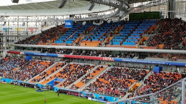 В полупустых трибунах на первом матче ЧМ в Екатеринбурге обвинили египтян