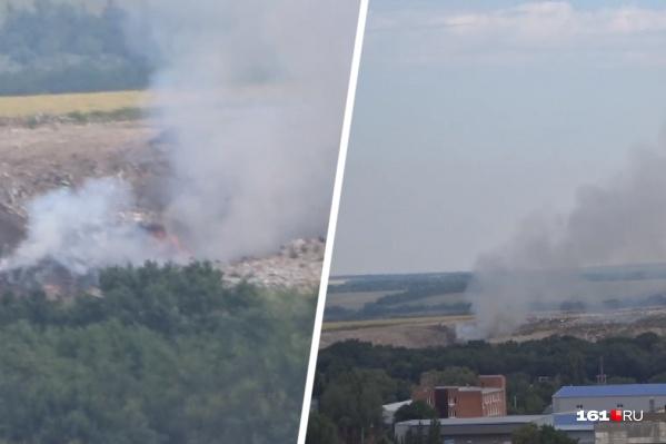 Пожар начался на полигоне в 8 утра