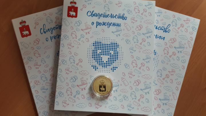 Первые медали «Я родился в Пермском крае» получат новорожденные из Нытвы