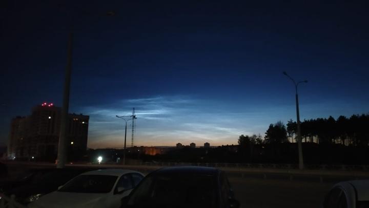 В небе над Свердловской областью появились серебристые облака