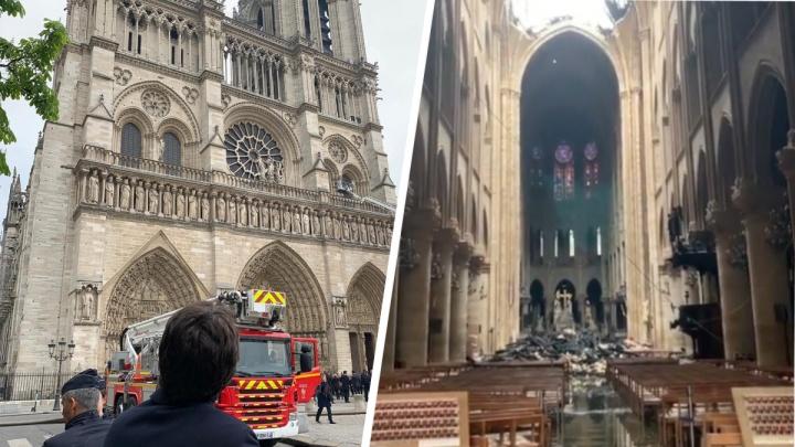 Наталья Водянова показала, что стало с собором Парижской Богоматери внутри