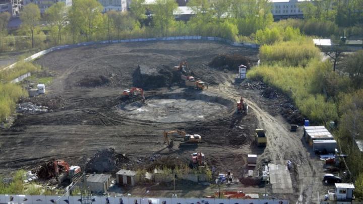 УГМК снесет фундамент телебашни: он мешает будущему ледовому полю