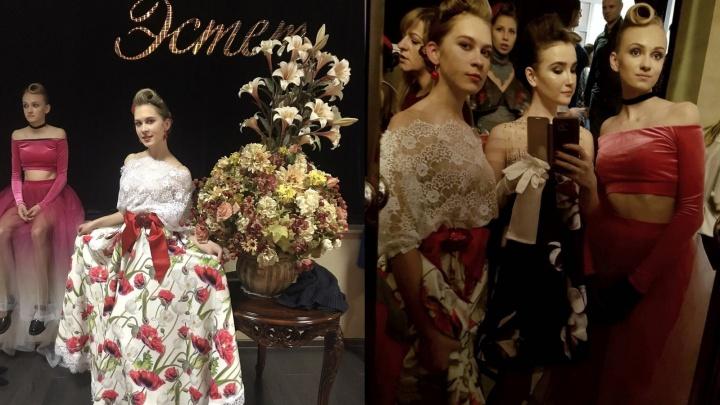 Юные модели из Красноярска показали наряды на Неделе ювелирной моды в Москве