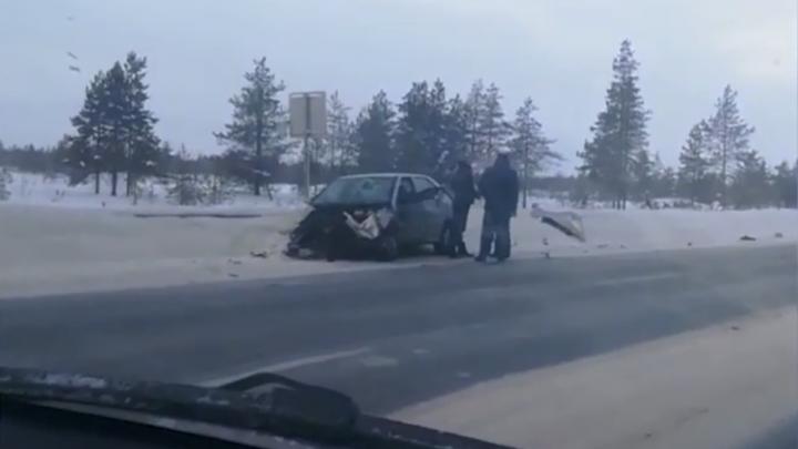 У Рикасихи два автомобиля столкнулись из-за гололёда