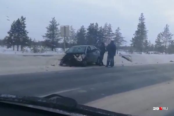 ДТП произошло на 22-м километре М-8, на подъезде к Северодвинску