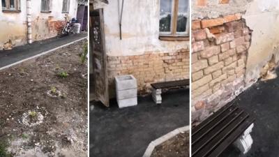 «Урна крепче стены»: вЯрославской области благоустроили двор у дома, где даже нет канализации