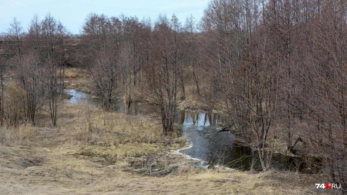 Большую часть года Теча напоминает ручей — сброс воды в неё теперь ограничен