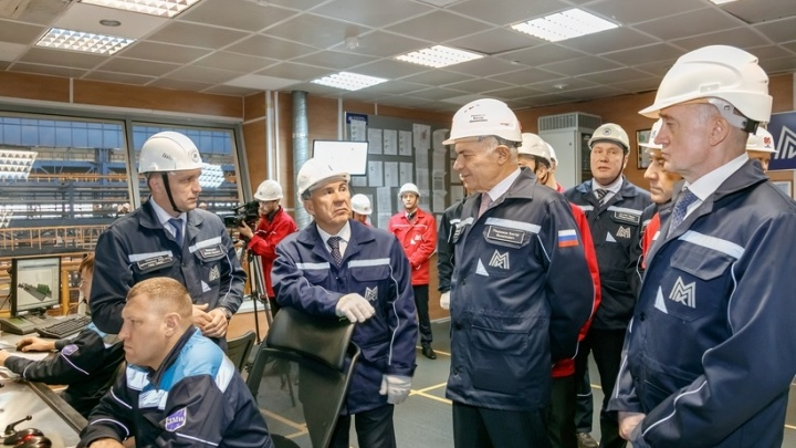 Президент Татарстана оценил производственные мощности ММК
