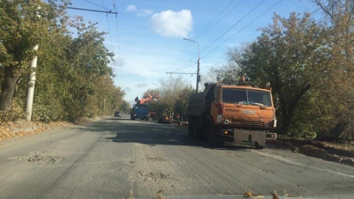 Последний этап работы: на улице Химмашевской в Кургане положат асфальт