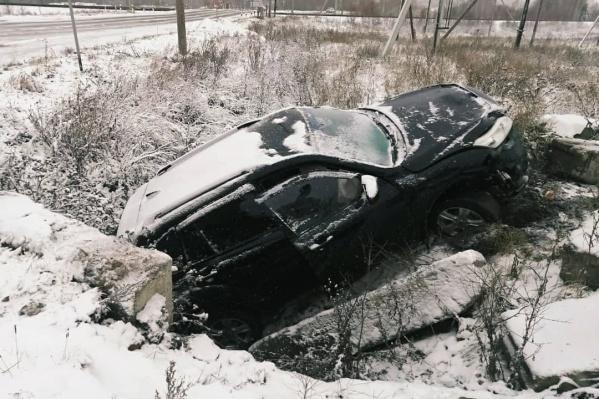 В Учалинском районе водитель не справился с управлением из-за наледи на проезжей части
