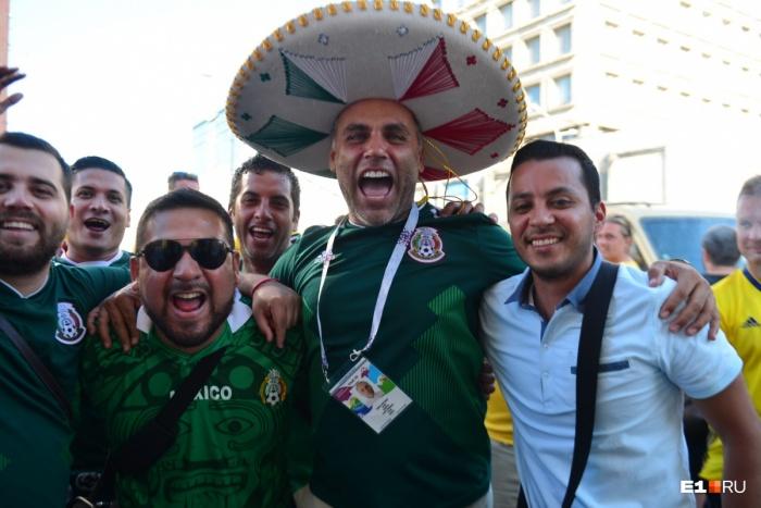 Мексиканцы были одними из самых шумных и весёлых болельщиков