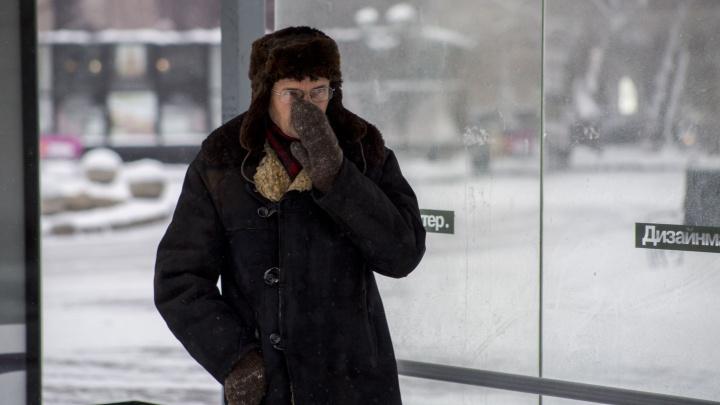 Закрывайте нос рукой: в Новосибирске семь человек попали к врачам с обморожением